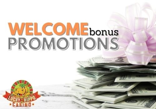 Lucky Hippo Casino offers welcome bonus and promotions